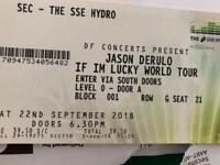 2 x Jason Derulo tickets. SSE hydro 22/9/18