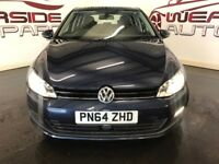 VOLKSWAGEN GOLF 1.6 TDI BlueMotion Tech Match Hatchback DSG 5dr (start/stop) Auto (blue) 2014