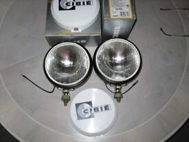 2 CIBIE Oscar Plus Driving Lamps - New & Unused - Top Cosmetic Condition