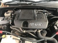 2001-2009 TOYOTA HILUX/LANDCRUISER 3.0 D4D 1KD-FTV ENGINE 68,000 MILEAGE ONLY WITH WARRANTY