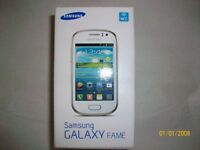 SAMSUNG GALAXY FAME (UNLOCKED/BOXED AND WITH CASE)
