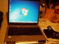 Toshiba satallite pro L100 Laptop:80GB :Dual Core 1.60Ghz :1GB RAM :Win 7 : Activated Office 2007