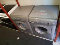 Silver Hotpoint washer/dryers £150 each-fully reconditioned,6 months warranty,1 years pat test