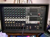 Full PA. Yamaha EMX512sc powered mixer head and speakers