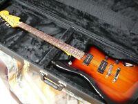Fender Jaguar Modern Player electric guitar superb with as new hardcase