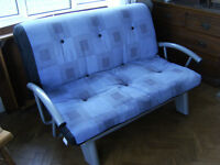 Sofa Bed. Metal framed sofa bed, hardly used