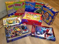 A selection of games, puzzles and jigsaws