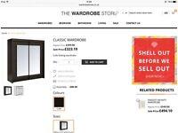 Brand New Mirror Sliding Wardrobe