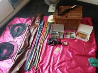 bundle if fishing gear includes forshaws of liverpool rod