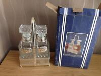 Silver plated decanters