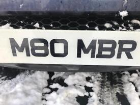 Number Plate M80MBR