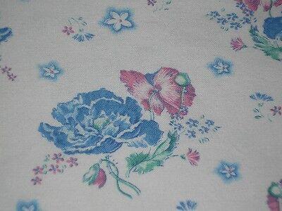 Bauernbettwäsche-Stoff  Blaue Mohnblume 120 / 50 cm TOP