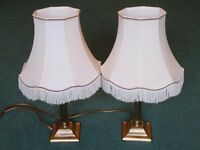 Pair table lamps, £5