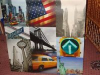 lovely canvas picture of new York type scene