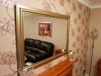 Wall Mirror with Brushed Gold Frame
