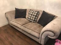 Silver grey sofology 4 seater sofa
