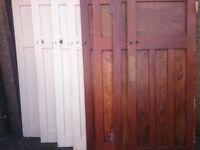 8 x 1930's solid wooden doors (1 panel over 3)
