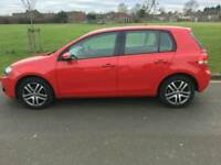 Volkswagen golf red in excellent condition