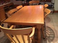 Cabinet maker made bespoke kitchen table and chairs