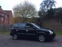 KIA CARENS 2005 BLACK MPV AUTOMATIC LOW MILES ONLY 65K VERY GOOD RUNNER