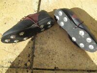 DUKE men`s BLACK / BROWN duke golf shoes size 8 UK / 42 EU / 9 US