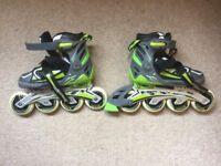 Child's inline skates, adjustable size 2 - 5.5