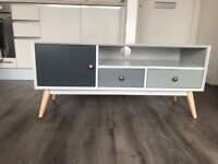 Brand New Grey TV Console Table