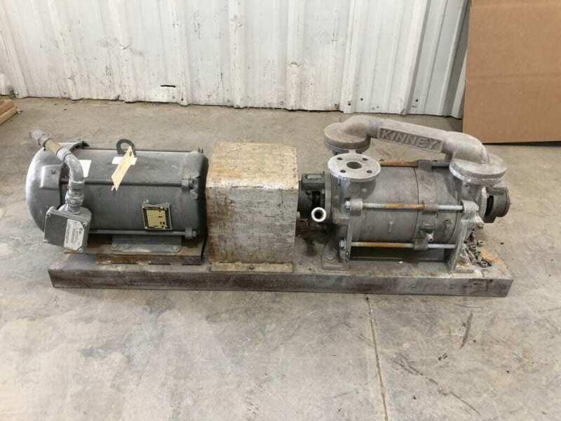 Kinney KLRC-125-FA2 CI Two-Stage Liquid Ring Pump w/ Ex-Proof Motor 7 GPM 220°F