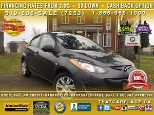 2014 Mazda MAZDA2 GX-$52/Wk-USB/AUX/CD/MP3-FUEL EFFICIENT-LOW KM