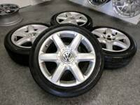 "17"" VW T5 alloy wheels and tyres 5x120"
