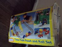 little tikes road and rail set with cars and figures