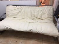 Metal Futon for sale. Folds out at the front to a double bed
