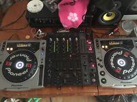 Full pioneer Dj set up