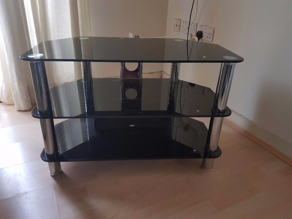 Black Glass TV stand only £20