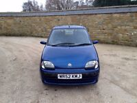 2002 Fiat Seicento, 84k, 12 month MOT, great first car!
