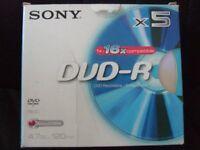SONY DVD-R DISCS BRAND NEW