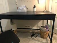Good condition IKEA navy Alex desk