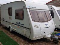 2005 Lunar Quasar 462 2 Berth End Washroom Caravan with Motor Mover