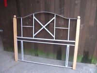Double headboard metal wood very nice looking delivery available