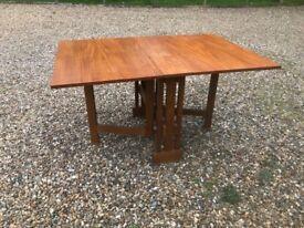 Folding wood table - Art Deco? Danish ?