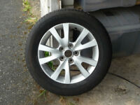 "Mazda 16"" alloy spare wheel. and good tyre. 205/60 R 16 PCD 5 x 114.3. Swanage or Bournemouth"