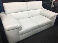 New/Ex Display Reid Liberata White Leather 2/3 Seater