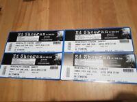 Ed Sheeran - Standing Tickets Sun 24th June Cardiff