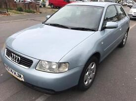 Audi A3 1.6 se 2001, blue, 5 speed manual, 3 door hatch, great condition, long mot & taxed,
