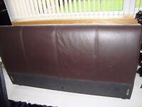 king size bed frame- faux leather headboard, sides and end