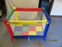 Playpen. Colourful & collapsible.