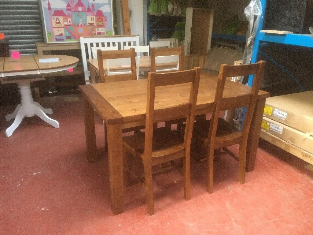 Incredible Collection Arizona Solid Pine Dining Table 4 Chairs Pine In Spennymoor County Durham Gumtree Interior Design Ideas Ghosoteloinfo
