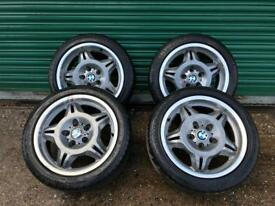 Alloy wheels, BMW, E36, 3 series, Genuine M3 EVO staggered offset, Alloys Style 24