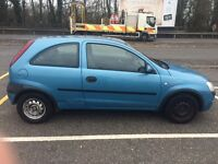 Vauxhall corsa, year 2003, 1.0L, very cheap on fuel.