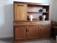 Vintage G Plan Drinks, Display Cabinet & Side Board